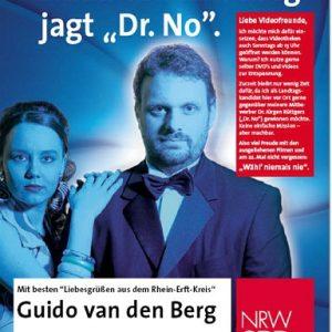 """Plakat: Guido van den Berg jagt """"Dr. No."""""""