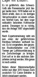 Anzeige in der Sonntags-Post vom 13.03.2010