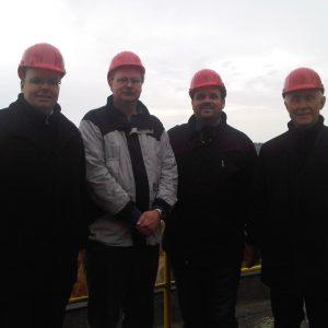 Helge Herrwegen, Karl-Heinz Sonnet, Guido van den Berg und Hans Krings