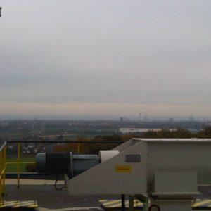 Blick nach Köln von den Quarzwerken Frechen