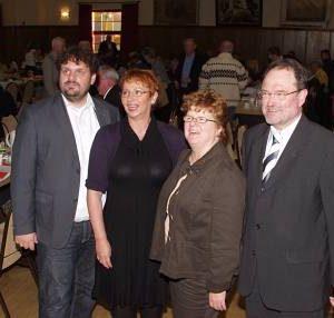 Der Vorstand mit Guido van den Berg, Gabriele Frechen, Ute Meiers und Bernhard Hadel. (Foto: Kurth)