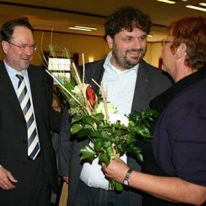 Bernhard Hadel, Guido van den Berg und Gabriele Frechen auf dem Kreisparteitag Bernhard Hadel, Guido van den Berg und Gabriele Frechen auf dem Kreisparteitag (Foto: Funken)