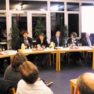 (v.l.n.r.) Werner Goertz, Mathilde Koller, Guido van den Berg, Tessa Mollenhauer-Koch, Norbert Hebborn, Martina Peitsch und Volker Joest