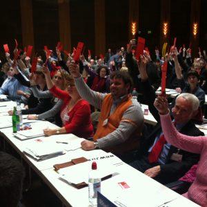Delegation der Rhein-Erft SPD auf der Landesdelegiertenkonferenz in Düsseldorf