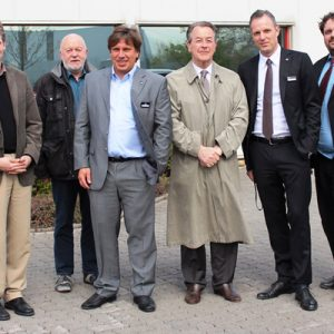 Dr. Kai Faßbender, Friedrich Hölter, Holger Kau, Franz Müntefering, Björn Siewert und Guido van den Berg v. l.