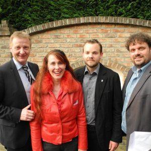 Ralf Jäger, Sonja Mies, Jens Baars und Guido van den Berg