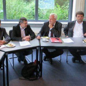 Peter Münstermann, Dietmar Nietan, Garrelt Duin und Guido van den Berg