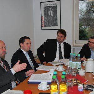 Rainer Thiel MdL, Sefan Kämmerling MdL, Guido van den Berg MdL und Dietmar Nietan MdB