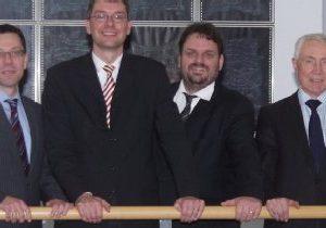 Dierk Timm, Florian Herpel, Guido van den Berg MdL und Hans Krings