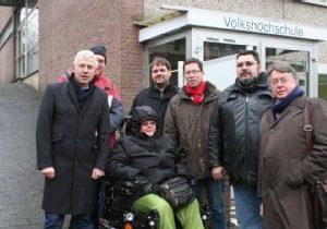 Stadtsparziergang mit dem Landesbeuftragten Norbert Killewald zur Barrierefreiheit in Bergheim