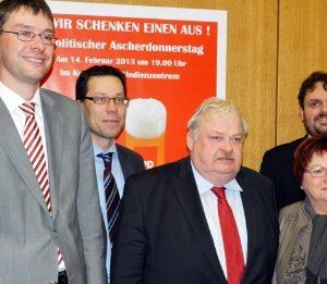 Florian Herpel, Dierk Timm, Guntram Schneider MdL, Marlies Stroschein, Guido van den Berg MdL