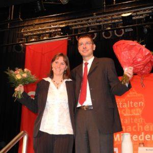 Wiebke und Florian Herpel beim Nominierungsparteitag