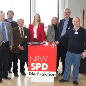 Bernhard Seiger, Guido van den Berg MdL, Alfred Link, Dagmar Andres MdL, Brigitte Dmoch-Schweren MdL, Detlef Kornmüller und Siegfried Dörr