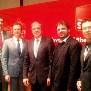 Florian Herpel,  Dr. Daniel Henzgen, Dr. Johannes Lambertz, Guido van den Berg MdL und Dierk Timm (v.l.n.r.)