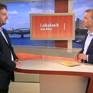 Guido van den Berg MdL mit WDR-Moderator Henning Quanz
