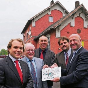 Martin Mertens, Horst Fischer, Johannes Strauch, Guido van der Berg MdL und Rainer Thiel MdL