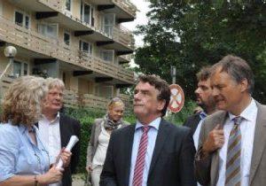Minister Groscheck besucht Bergheim Süd-West