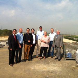 SPD-Abgeordnete besuchen die Baustelle der A4