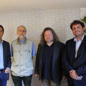 Dierk Timm, Dr. Rainer Moormann, Jürgen Streich, Guido van den Berg MdL (v.l.)