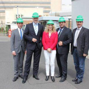 Sebastian Hartmann MdB, Minister Garrelt Duin, Guido van den Berg MdL, Dagmar Andres MdL und Dieter Faust