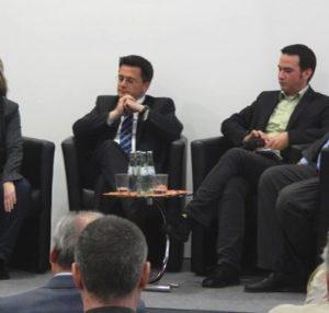 (v.l.) Tine Hørdum, Thomas Kutschaty, Stephan Renner und Guido van den Berg.