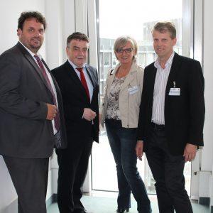Guido van den Berg MdL, Minister Michael Groschek, Elke Bratkowski, Dr. Kai Fassbender