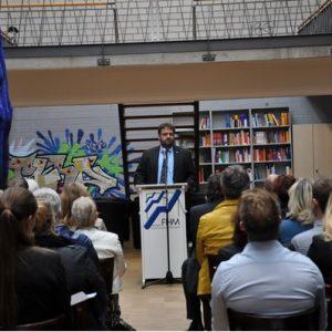 Guido van den Berg auf der Immatrikulationsfeier der FHM tec Pulheim