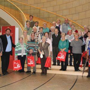 AWO Besuchergrupper aus Kaster-Königshoven im Landtag