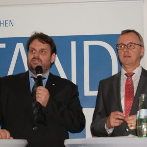 Guido van den Berg MdL und der  RWE Power-Vorstandsvorsitzender Matthias Hartung