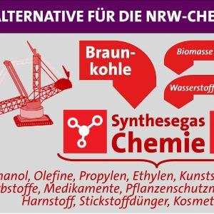Rheinische Braunkohle kann ein Ersatz für importiertes Öl der Chemieindustrie in NRW werden