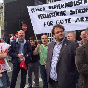 Guido van den Berg auf der IGBCE Demo in Berlin