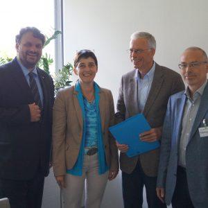 Guido van den Berg, Barbara Steffens, Dr. Peter Werth und Jürgen Schmeier