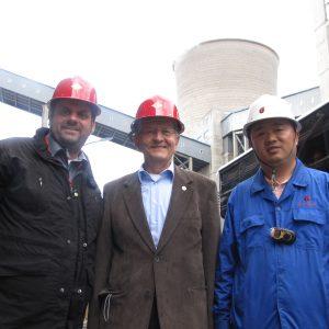 Rongxin Anlage (Innere Mongolei / China) mit Guido van den Berg MdL und Prof. Dr. Bernd Meyer