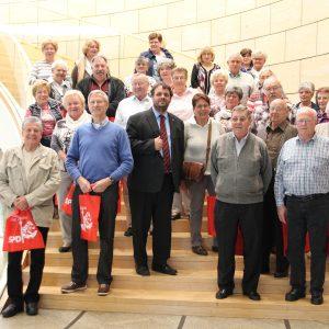 Der VdK Pütz besucht den Düsseldorfer Landtag