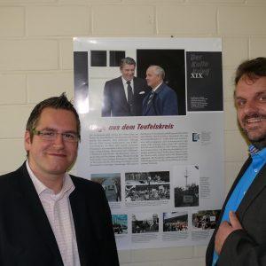 """Ausstellungseröffnung """"Kalter Krieg"""" mit Bürgermeister Sascha Solbach und Guido van den Berg MdL"""