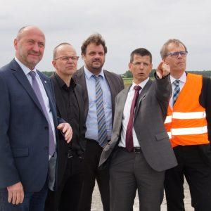 Rainer Thiel, Frank Sundermann, Guido van den Berg, Dr. Lars Kulik und Michael Eyll-Vetter