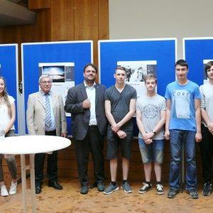 """Einweihung der Ausstellung """"Kalter Krieg"""" im Erftgymnasium in Bergheim"""