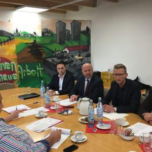 Stefan Kämmerling MdL, Rainer Thiel MdL, Daniel Rinkert, Guido van den Berg MdL
