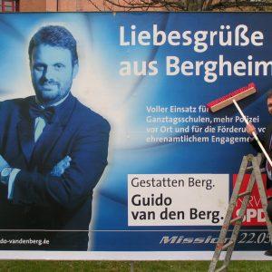 Guido van den Berg stellt seine Kampagne vor.