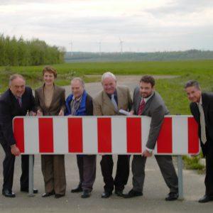 Minister Hostmann besucht die Trasse der L361