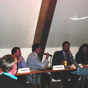 Guido van den Berg beim Aktionsbündnis Stommelner Bürger gegen BoA