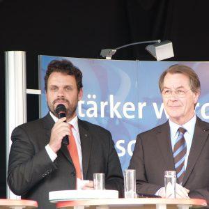 Guido van den Berg und Franz Müntefering