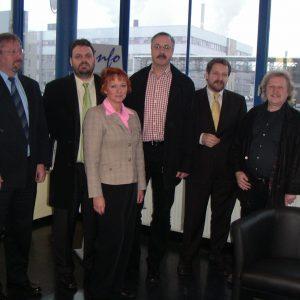 Dr. Reinhard Klingel, Guido van den Berg, Gabriele Frechen, Leo Berg, Dr. Rudolf Schmitz und Horst Lambertz