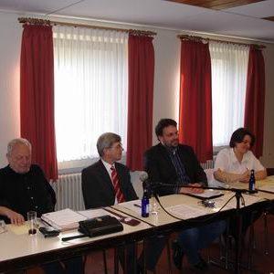 (v.l.n.r.) Manfred Koch, Manfred Kohlmann, Guido van den Berg, Petra Heeg