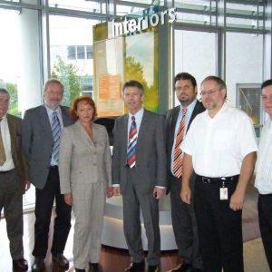 Bild v.l.n.r.:Wilfried Kuckelkorn, Ingpeer Meyer, Gabi Frechen MdB, Norbert Schmitz, Guido van den Berg, Thomas Rösner, Thomas Nienhaus