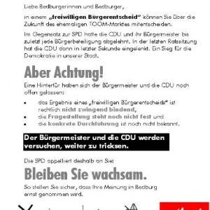 Die SPD setzt sich dafür ein, dass die Bürgerinnen und Bürger zu Wort kommen.