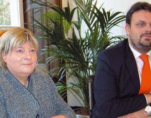 Helga Kühn Mengel und Guido van den Berg (Foto: Stölting)
