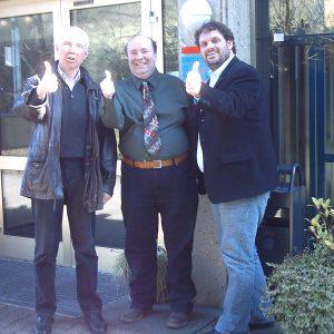 Hans Krings, David Boventer und Guido van den Berg gehen optimistisch in den Wahlkampf