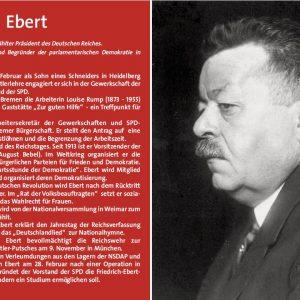 Gedenktafel für Friedrich Ebert