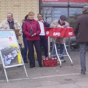 Unterschriftensammlung der SPD in Kaster